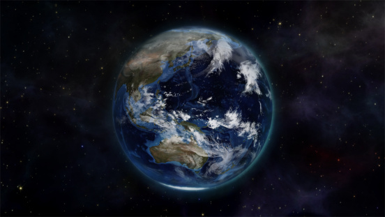 Northern Ireland「Illustration of the earth in space with an Earth image courtesy of Nasa.org」:スマホ壁紙(13)
