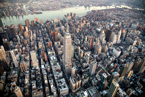 Midtown Manhattan「Aerial of Empire State Building  and Manhattan」:スマホ壁紙(15)