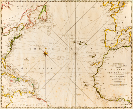 Direction「Antique world map」:スマホ壁紙(5)
