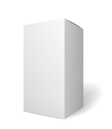 立つ「ブランク小売製品パッケージで、ホワイト」:スマホ壁紙(17)