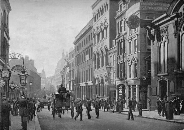 Recreational Pursuit「Cannon Street, looking west, City of London, c1910 (1911)」:写真・画像(0)[壁紙.com]