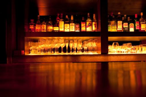 Alcohol - Drink「Liquor Bottles at Bar」:スマホ壁紙(18)