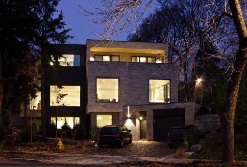 Carpentry「Modern House exterior」:スマホ壁紙(15)