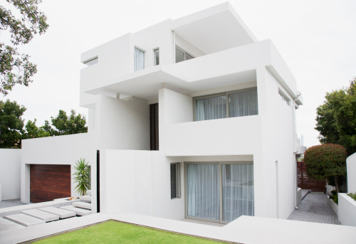 Capital - Architectural Feature「Modern house and backyard」:スマホ壁紙(1)