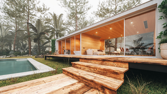Eco Tourism「Modern House In The Forest」:スマホ壁紙(18)