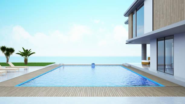 Modern House with Private Swimming Pool:スマホ壁紙(壁紙.com)