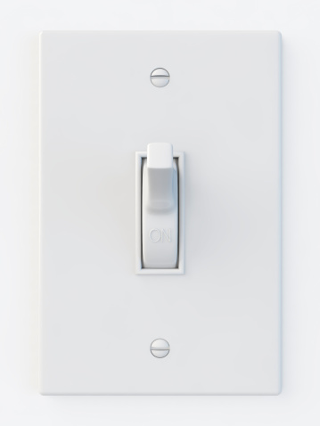 Light Switch「White light switch in the on position」:スマホ壁紙(3)