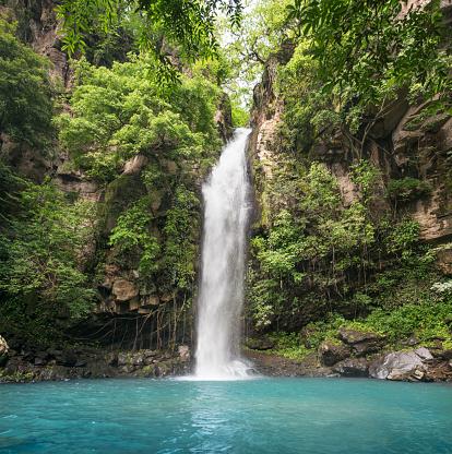 Central America「Idyllic Waterfall, Rincón de la Vieja National Park, Costa Rica」:スマホ壁紙(6)