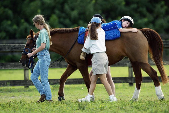 Horse「Austistic Boy with Cerebral Palsy Undergoes Horse Therapy」:写真・画像(2)[壁紙.com]