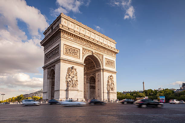 The Arc de Triomphe and Place Charles de Gaulle:スマホ壁紙(壁紙.com)