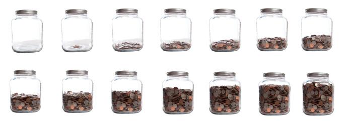 Full「Saving Your Coins Series of Jar Filling」:スマホ壁紙(9)
