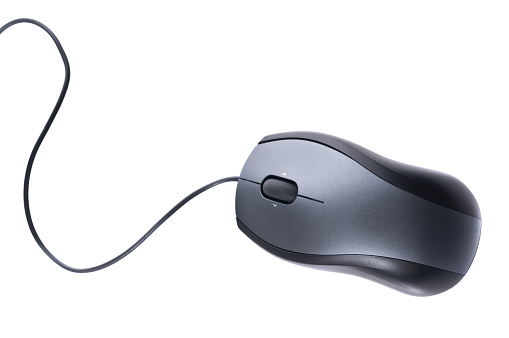 Cable「Isolated silver computer mouse on white background」:スマホ壁紙(6)