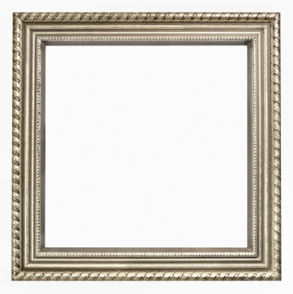 Square Shape「Tarnished Silver Square Picture Frame.  Isolated on White Clipping Path」:スマホ壁紙(18)