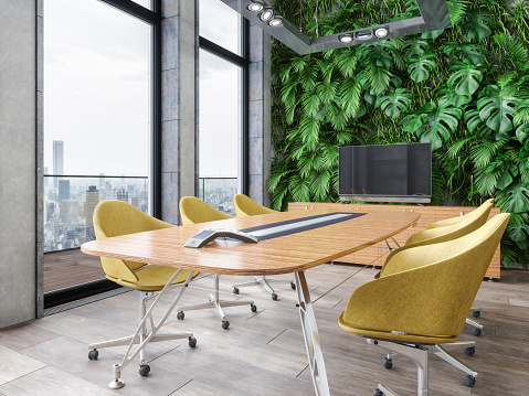 Business Meeting「Modern Conference Room Interior」:スマホ壁紙(10)