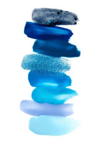 Oozing「Blue Nail Polish Swatches」:スマホ壁紙(17)