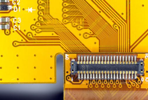 Soldered「Printed circuit board connector」:スマホ壁紙(5)
