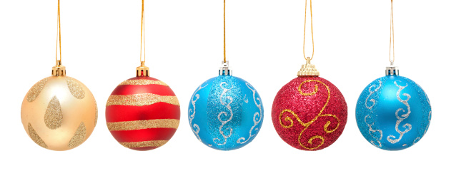 Chinese Culture「Christmas ball isolated on white background」:スマホ壁紙(12)