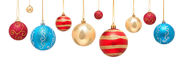 Christmas ball isolated on white background:スマホ壁紙(壁紙.com)