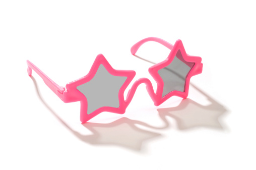 Funky「Child's pink star shaped sunglasses-isolated on white」:スマホ壁紙(2)