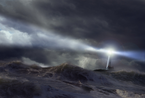 Digital Composite「Lighthouse in storm (Digital Composite)」:スマホ壁紙(2)
