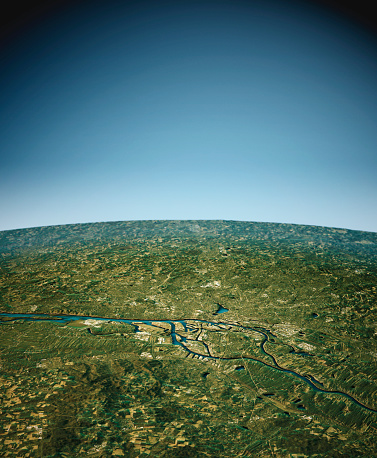 Digital Composite「Hamburg 3D View South-North Natural Color」:スマホ壁紙(15)