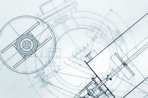 Printout「Mechanical Engineering Blueprint」:スマホ壁紙(3)