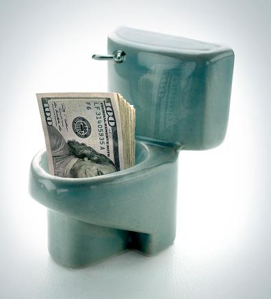 American One Hundred Dollar Bill「toilet money」:スマホ壁紙(8)