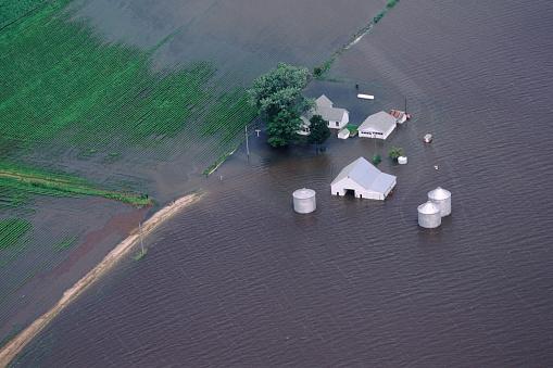 Destruction「Mississippi River Flooding Farm」:スマホ壁紙(0)