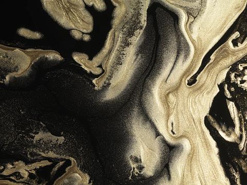 Black Color「Glitter gold paint patterns on black background」:スマホ壁紙(15)