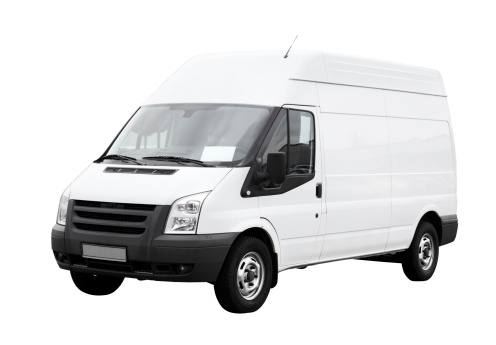 Commercial Land Vehicle「White delivery van with clean blank side isolated」:スマホ壁紙(19)