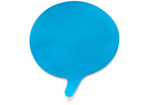 Adhesive Note「Blue Speech Bubble Postit on white」:スマホ壁紙(17)