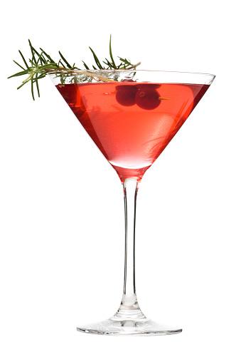 Martini「Martini Glass of Cosmopolitan Cocktail, Red Alcoholic Beverage on White」:スマホ壁紙(17)