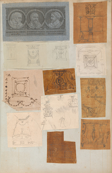 Model House「Page From A Scrapbook Containing Drawings And Several Prints Of Architecture」:写真・画像(6)[壁紙.com]