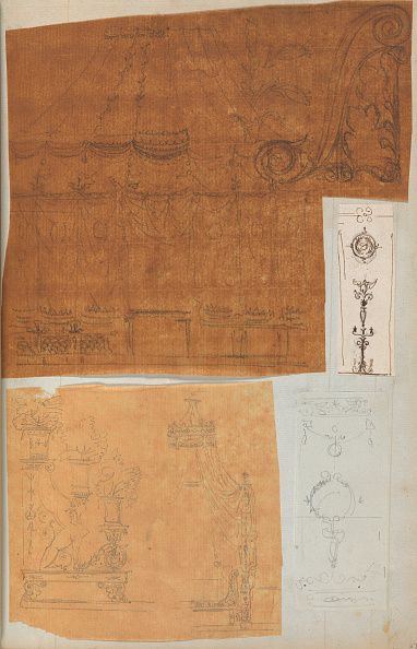 Model House「Page From A Scrapbook Containing Drawings And Several Prints Of Architecture」:写真・画像(5)[壁紙.com]