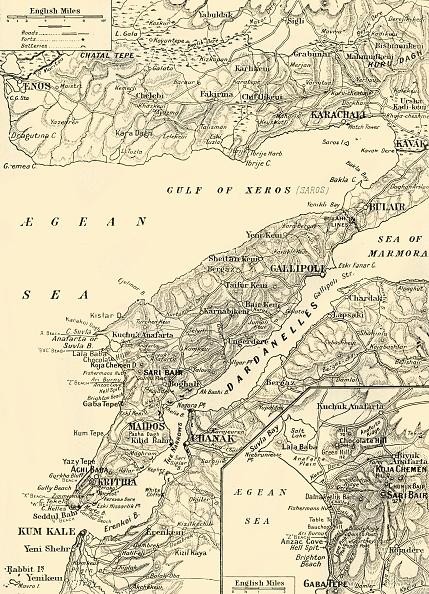 Mediterranean Sea「Detailed Map Of Gallipoli And Dardanelles」:写真・画像(19)[壁紙.com]