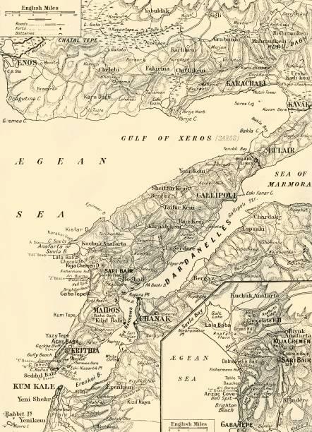 Detailed Map Of Gallipoli And Dardanelles:ニュース(壁紙.com)