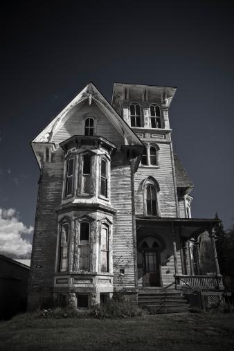 Halloween ghost「Old haunted house」:スマホ壁紙(10)