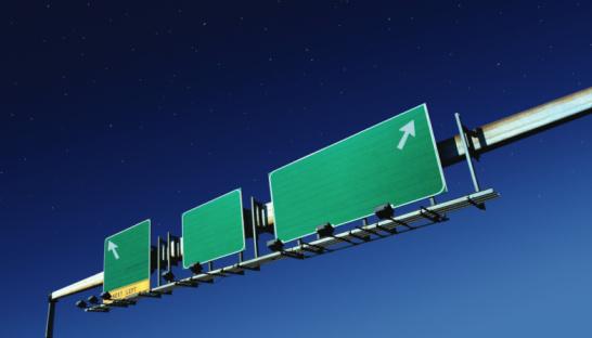 Traffic Arrow Sign「Blank highway signs (Digital Enhancement)」:スマホ壁紙(12)