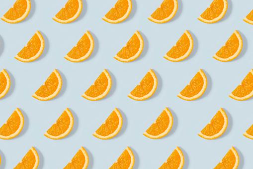 Turkey - Middle East「Orange Slice Pattern on Blue Background」:スマホ壁紙(14)