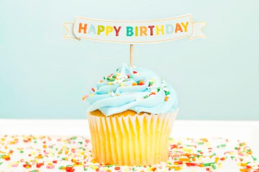 Single Word「Happy Birthday Cupcake」:スマホ壁紙(0)