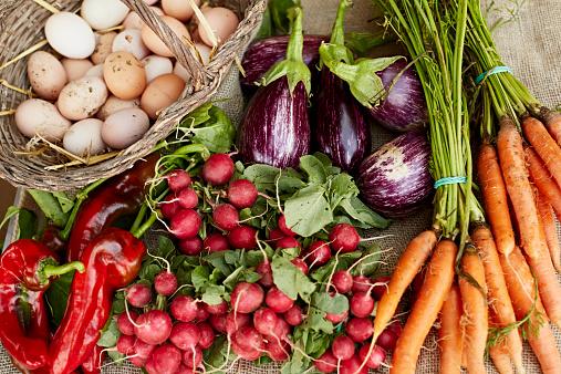 Radish「Freshly harvested vegetables at organic farm」:スマホ壁紙(12)