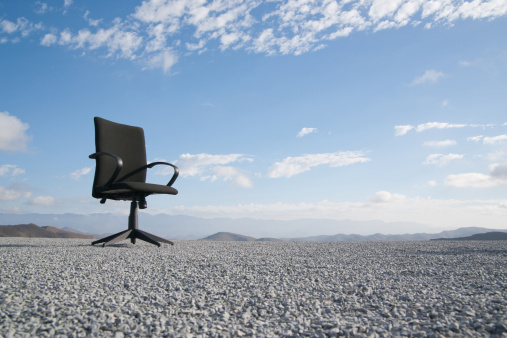 Remote Location「Office chair on a terrain full of pebbles」:スマホ壁紙(19)