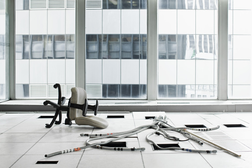 Cable「Office chair and cables on floor」:スマホ壁紙(12)