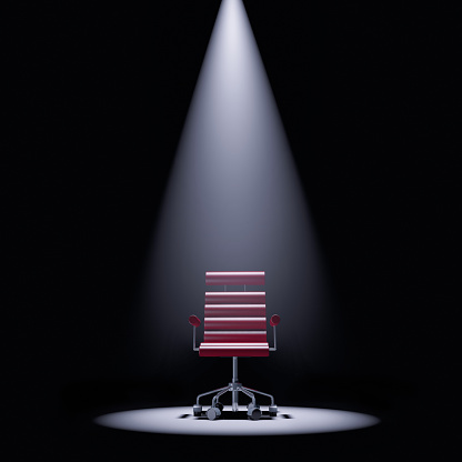 Leadership「Office chair in a spotlight」:スマホ壁紙(5)