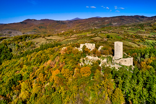 Monte Amiata「Rocca Silvana fort on Monte Amiata, Tuscany, Italy」:スマホ壁紙(9)