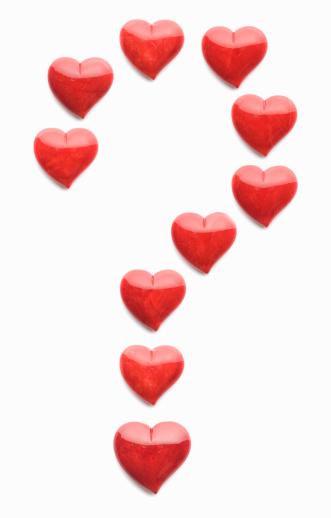 Alabaster「Alabaster hearts in shape of question mark」:スマホ壁紙(0)