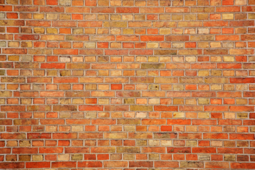 Orange Color「Brick wall」:スマホ壁紙(11)