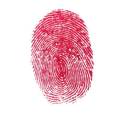 Intricacy「Red Isolated Fingerprint On White Background」:スマホ壁紙(3)