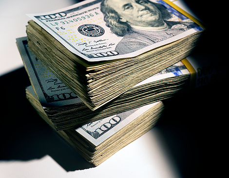 American One Hundred Dollar Bill「Money stack」:スマホ壁紙(14)