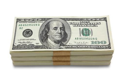 American One Hundred Dollar Bill「Money stack」:スマホ壁紙(13)